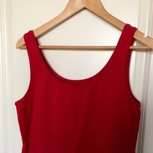 Stretchy Red Tank Top from Talbots.